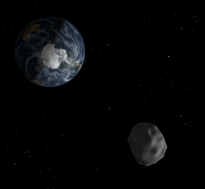 Earth and Asteroid